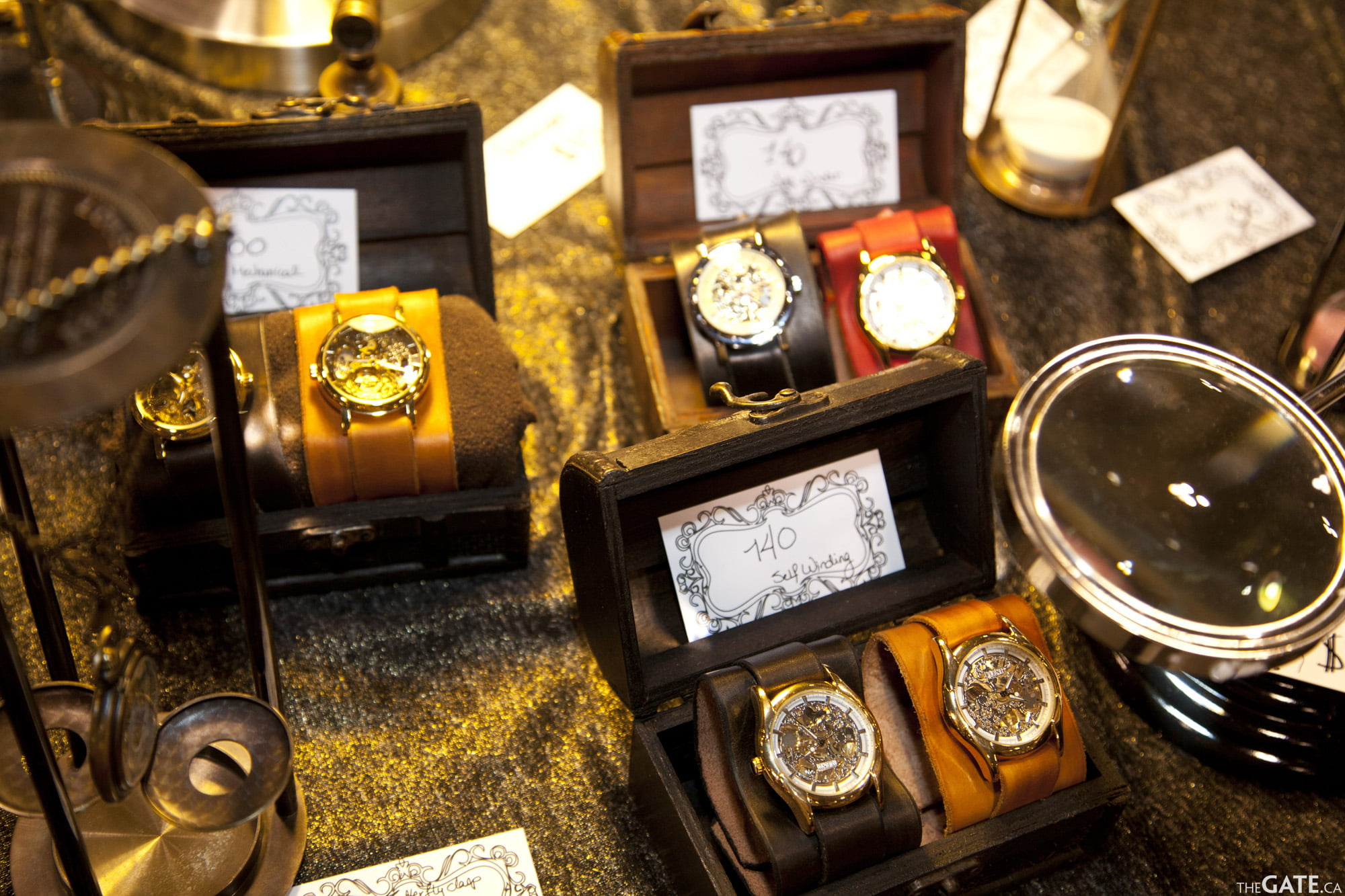 Steampunk watches from The Attic