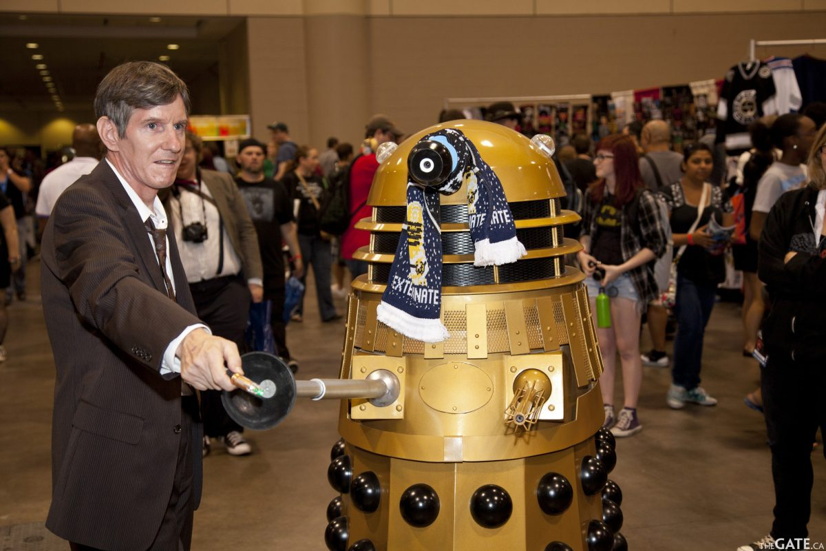 Doctor Who and a Dalek at Fan Expo 2012
