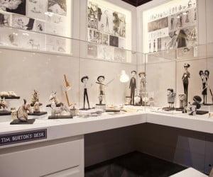 Tim Burton's desk at The Art of Frankenweenie Exhibition