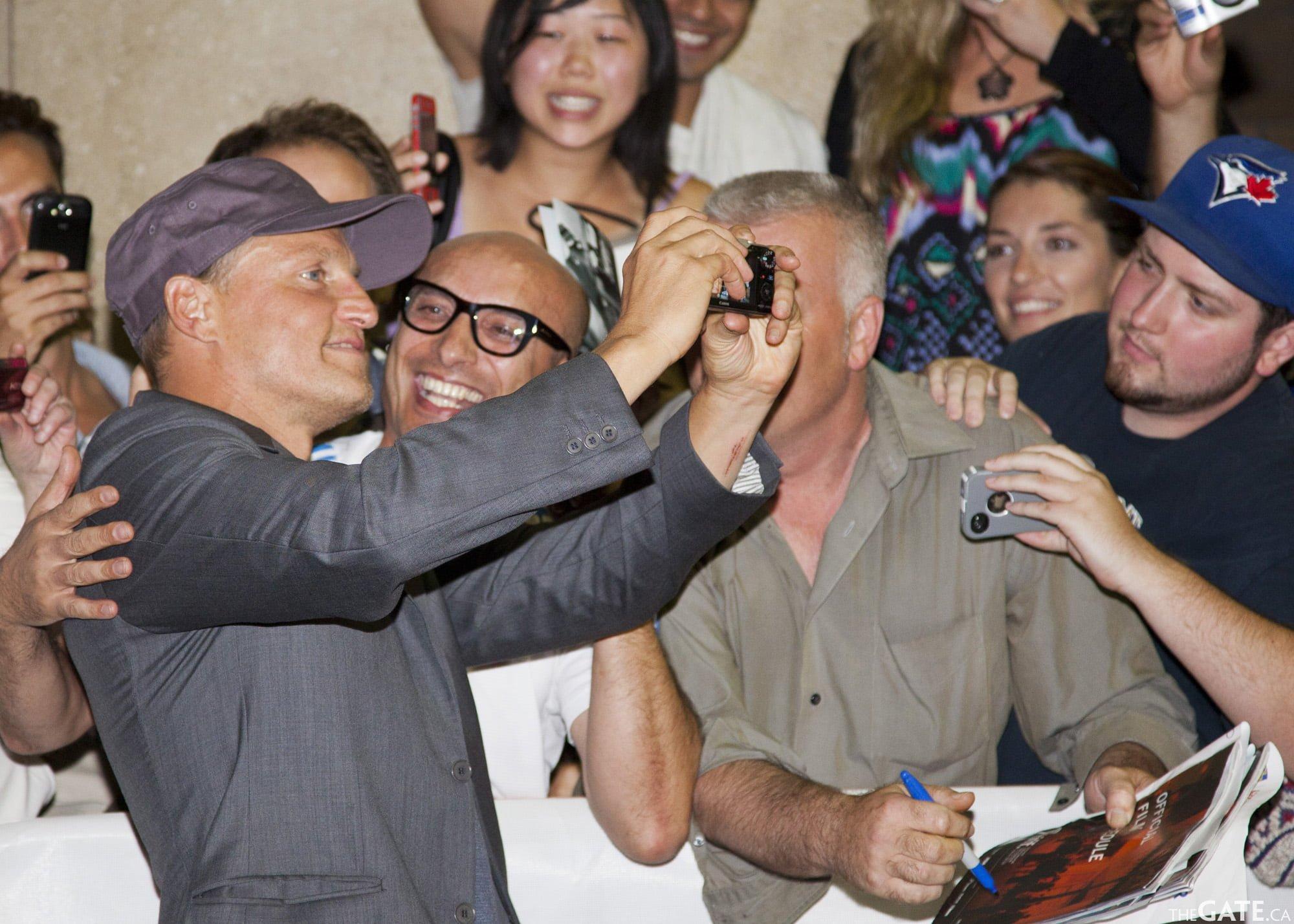 Woody Harrelson and a fan