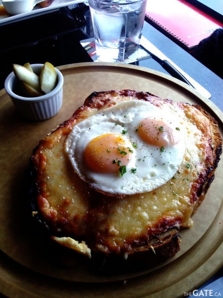 Croque Monsieur with eggs