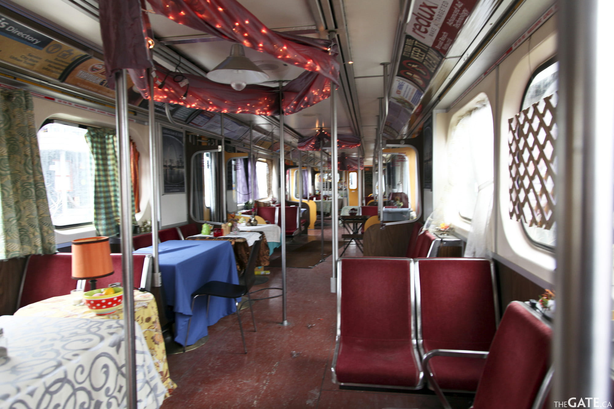 Inside the train cafe #2