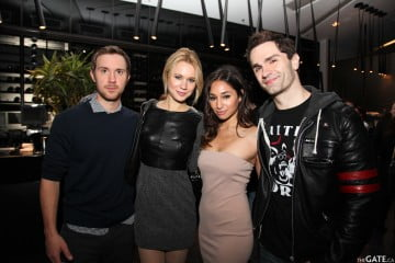 Sam Huntington, Kristen Hager, Meaghan Rath, and Sam Witwer