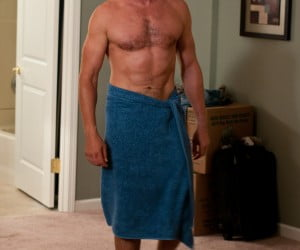 Gerard Butler shirtless in Playing for Keeps