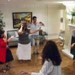 Belly-dancing with Gabrielle's family