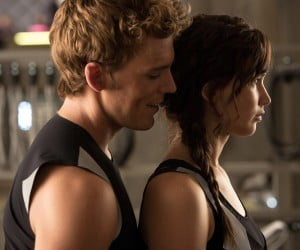 Sam Claflin and Jennifer Lawrence
