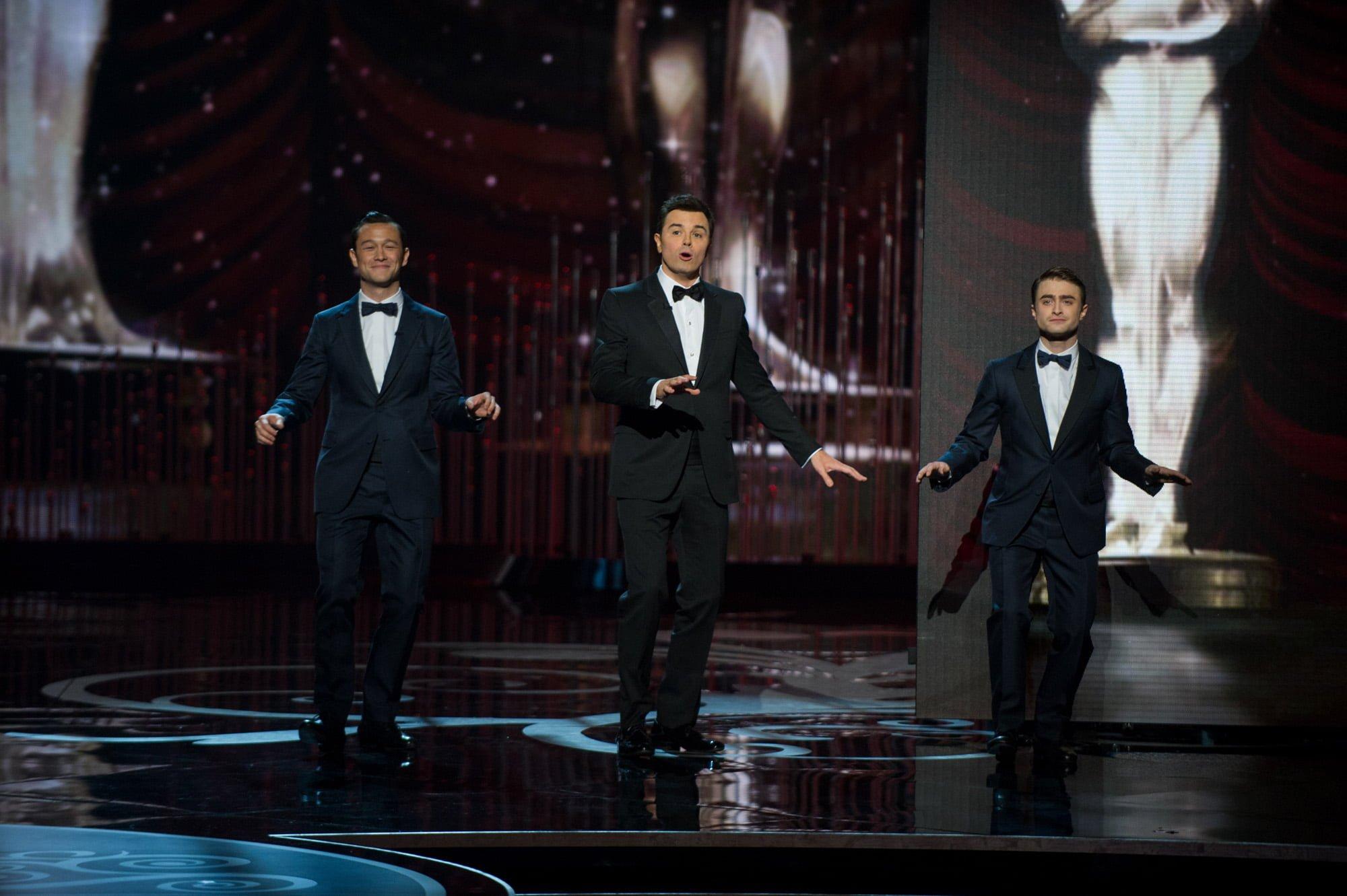 Joseph Gordon Levitt, Seth MacFarlane and Daniel Radcliffe