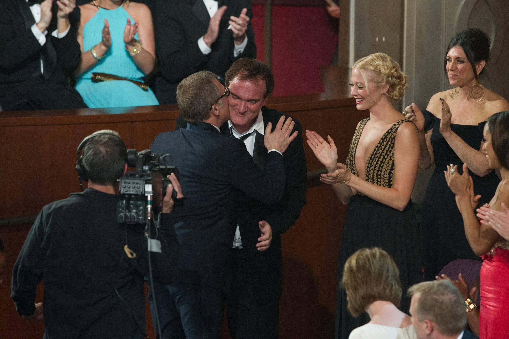 Christoph Waltz and Quentin Tarantino