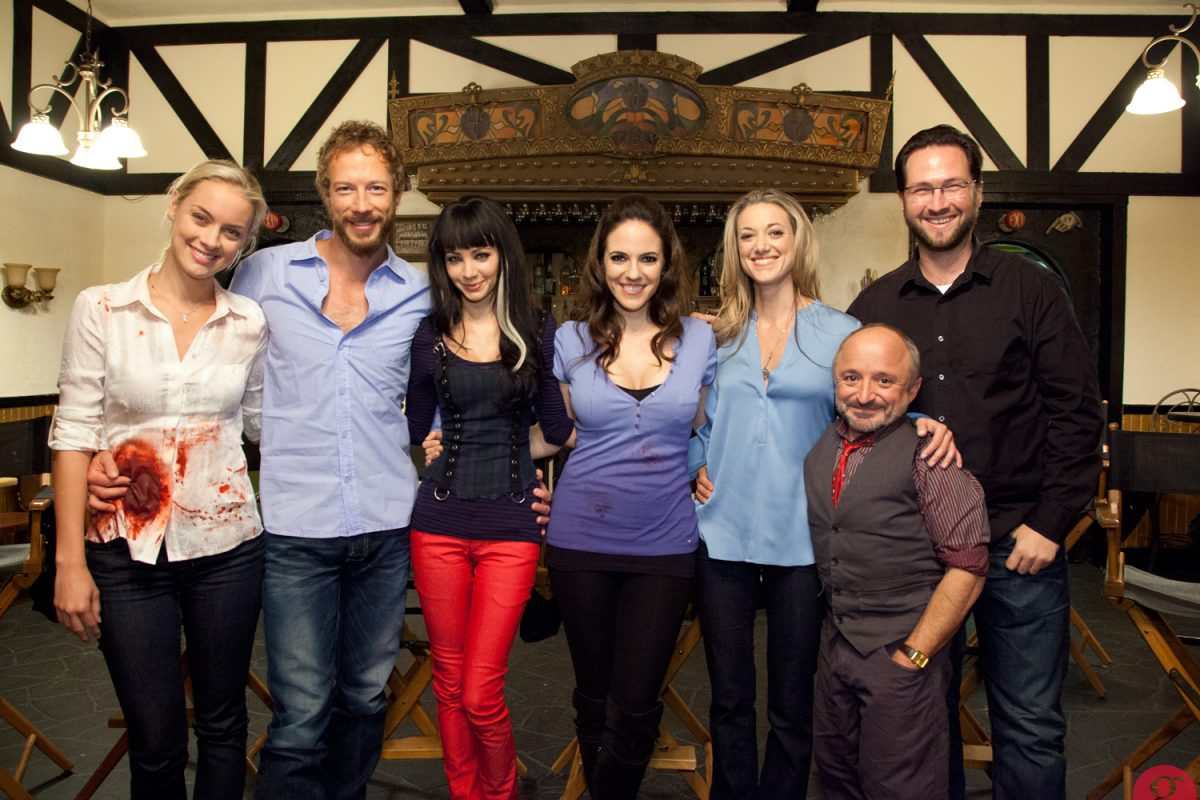 On set with the cast of Lost Girl