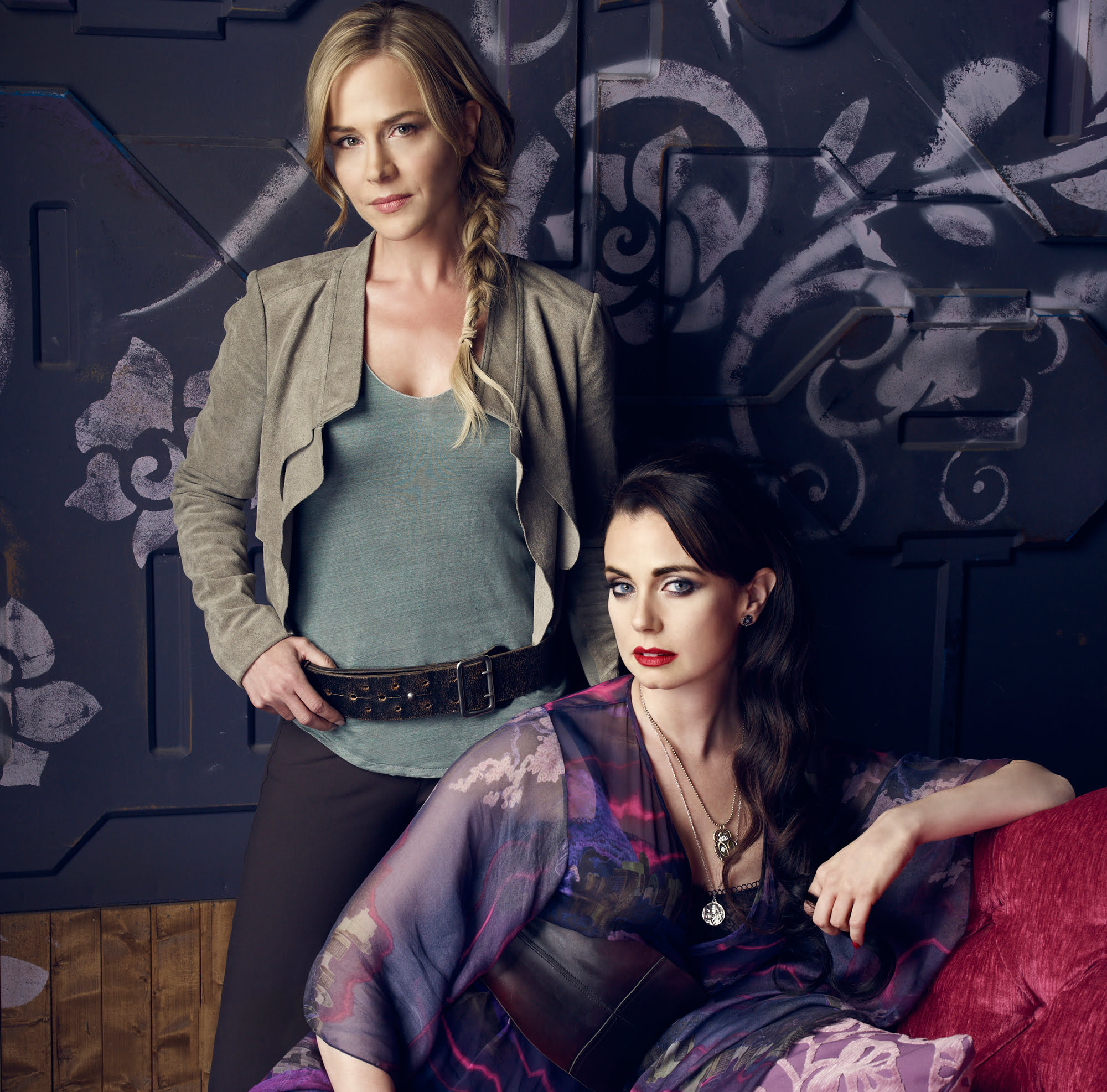 Julie Benz and Mia Kirshner in Defiance