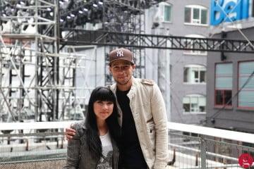 MuchMusic VJs Lauren Toyota and Scotty Willats