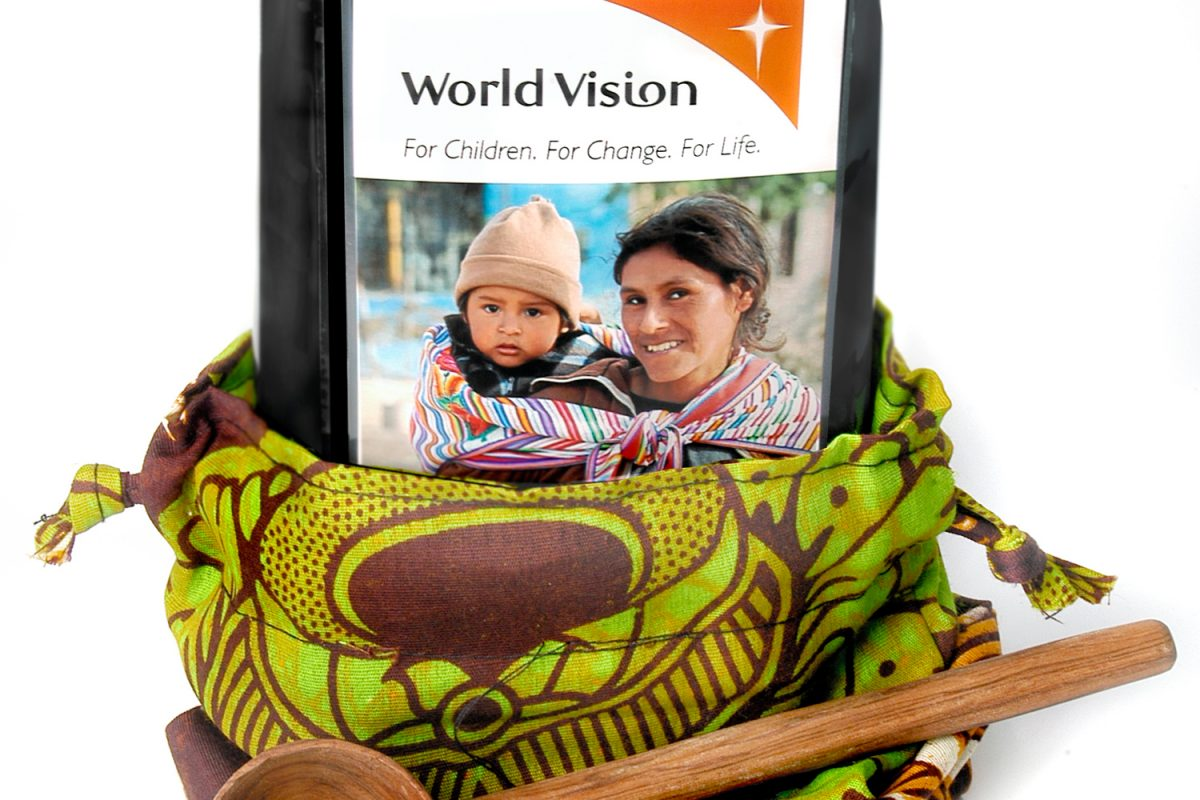World Vision coffee gift set