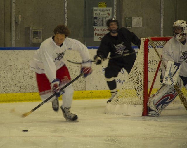 Ron Duguay steals the puck