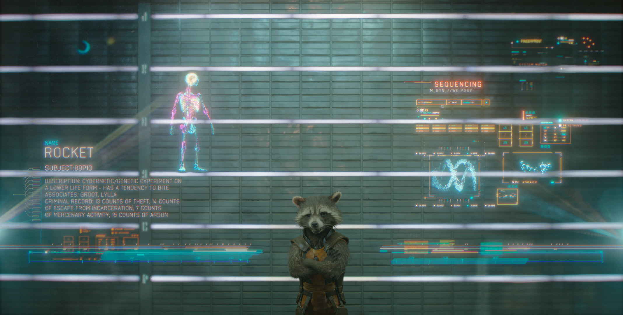 Rocket Raccoon voiced by Bradley Cooper