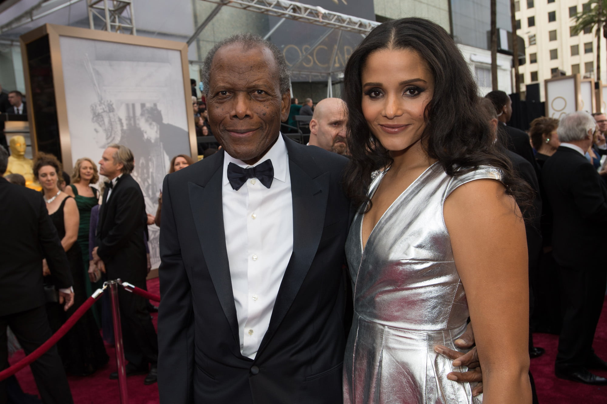 Sidney Poitier and guest