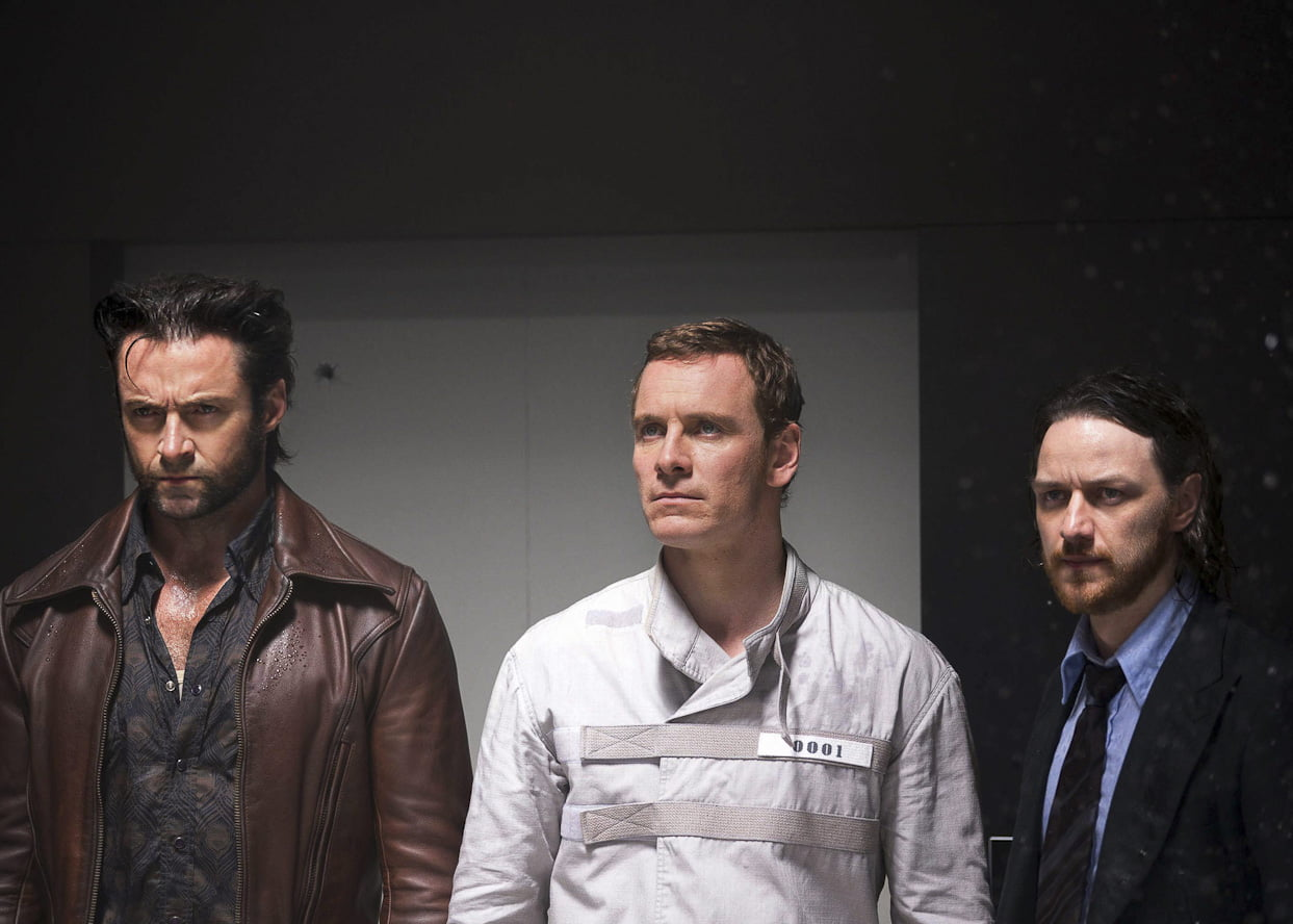 Hugh Jackmen, Michael Fassbender and James McAvoy