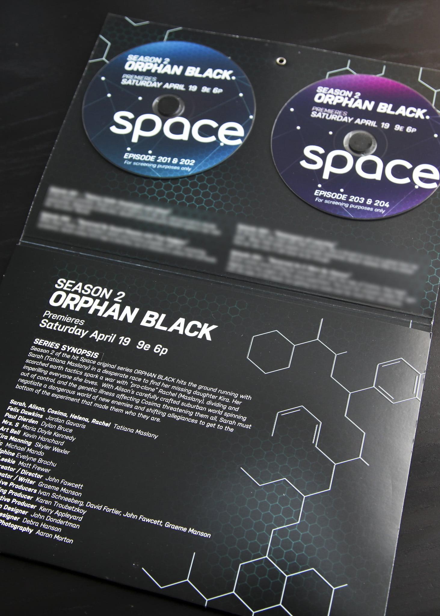 Orphan Black press kit - inside
