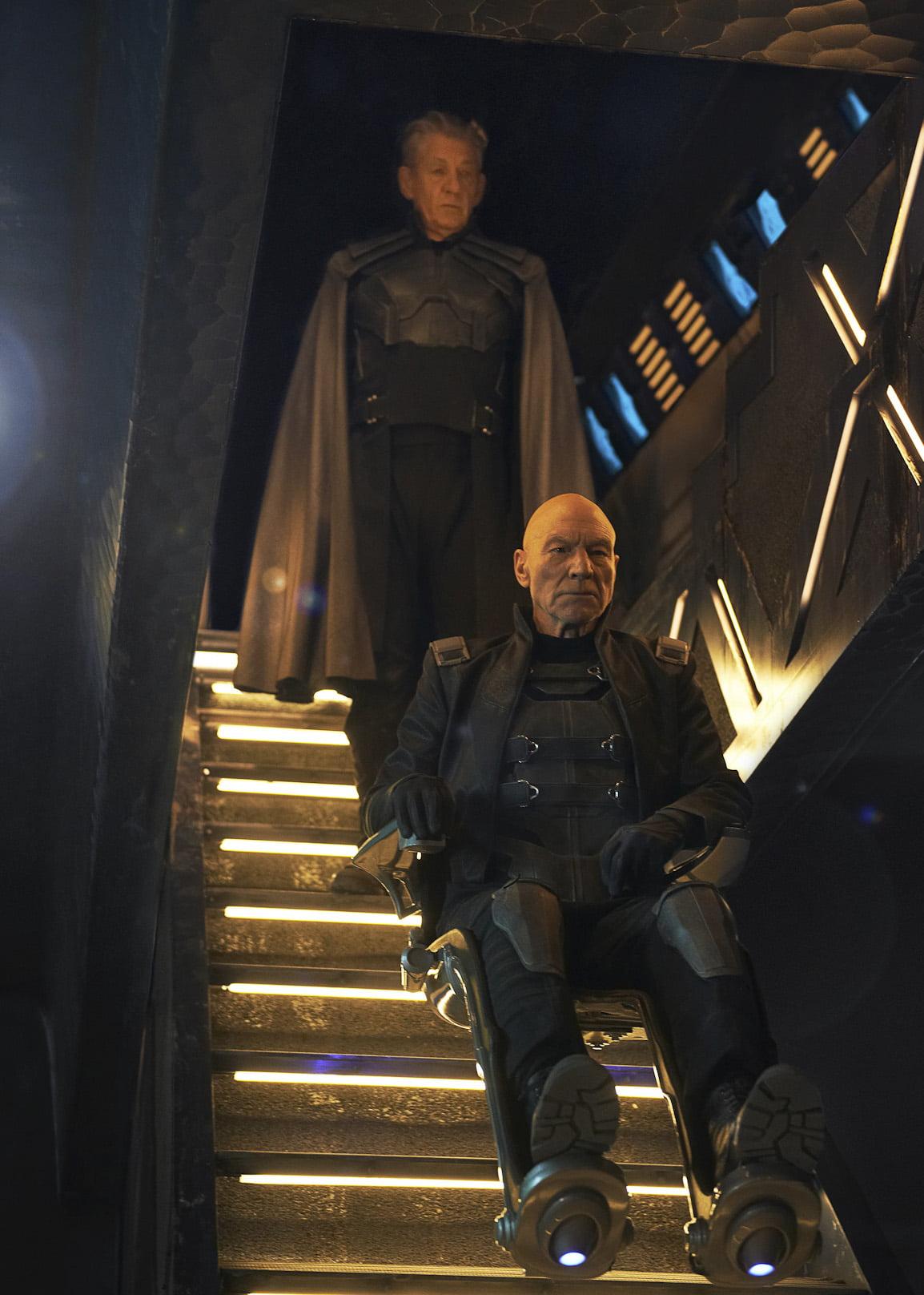 Ian McKellan as Magneto and Patrick Stewart as Xavier