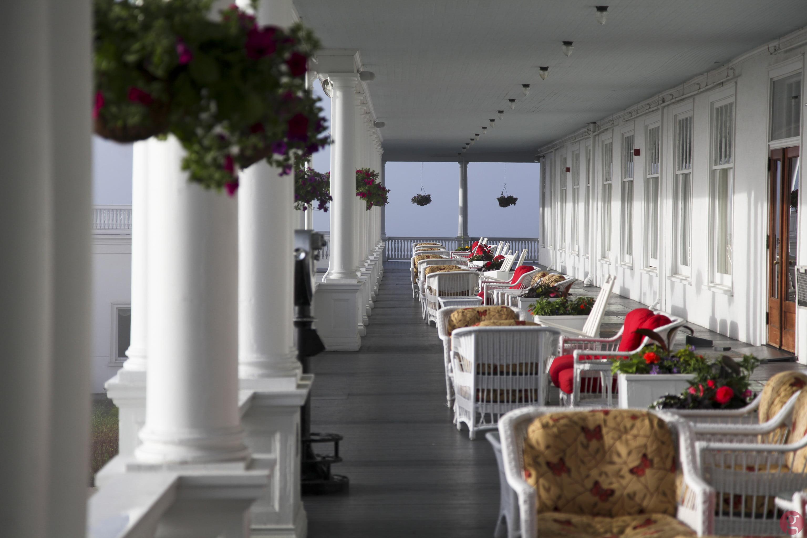 Comfy seats on the back veranda
