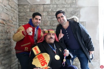 Khosrow Vaziri with Jian and Page Magen