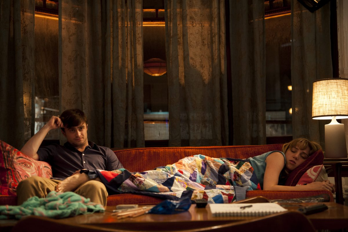 Daniel Radcliffe and Zoe Kazan in The F Word