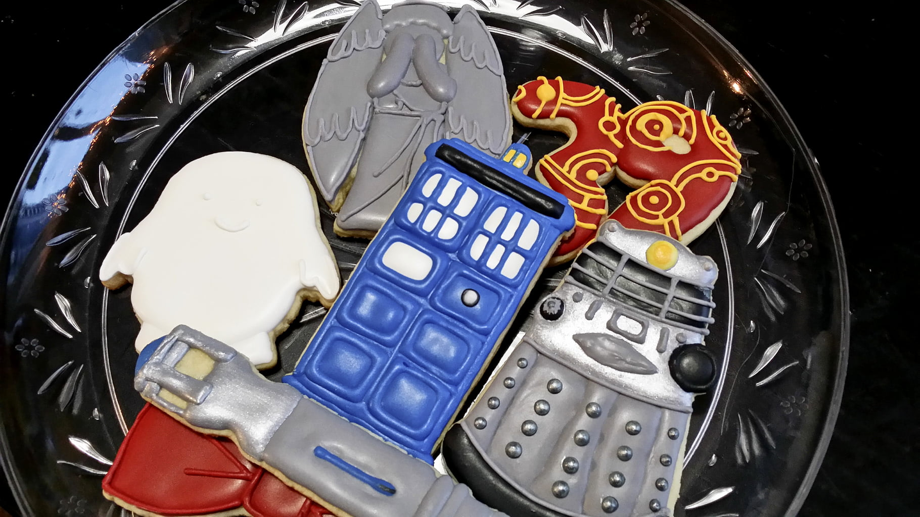Doctor Who birthday cookies
