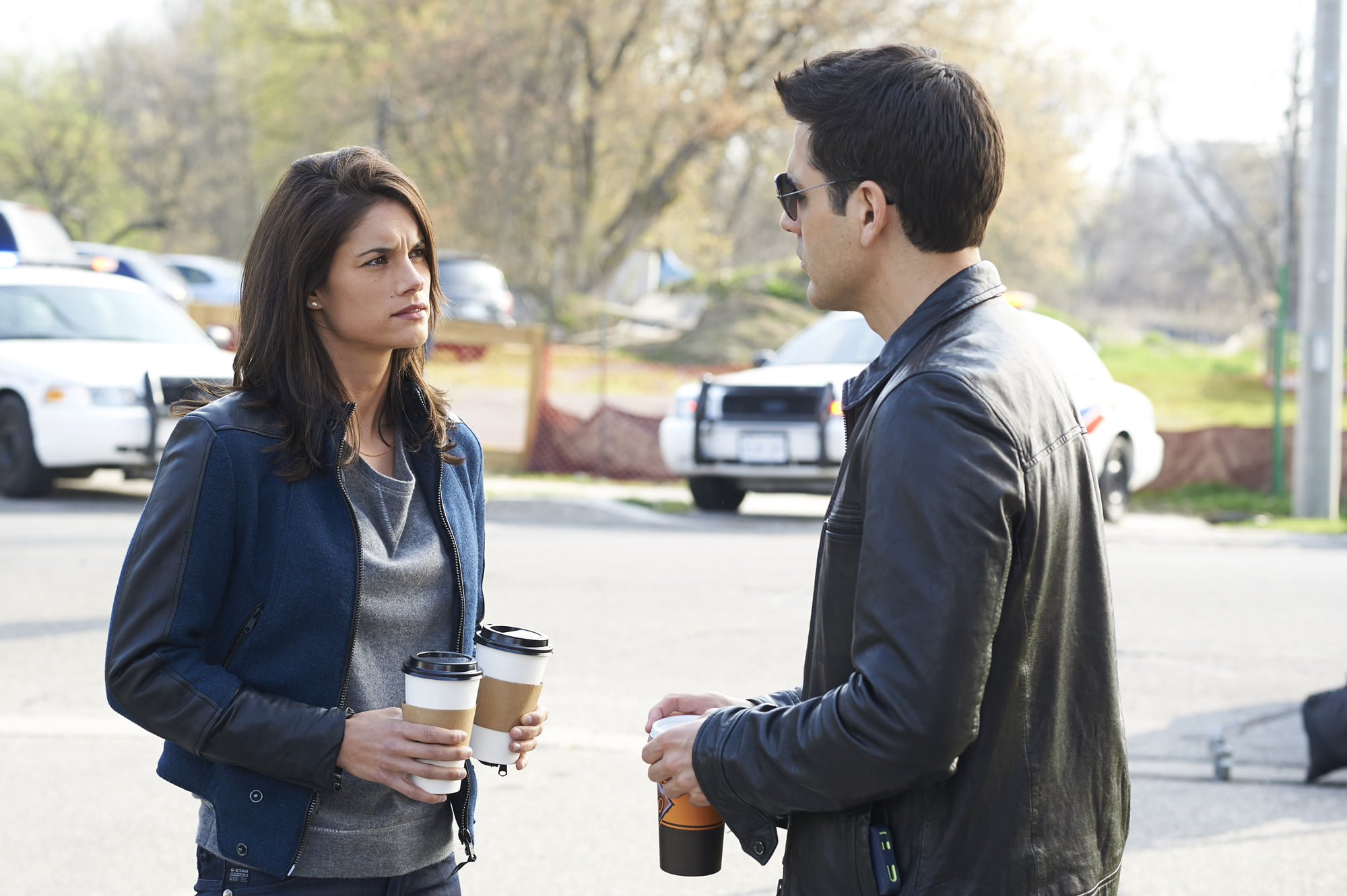 Missy Peregrym and Ben Bass