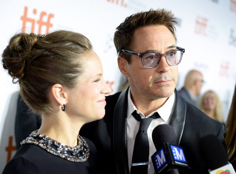 Robert and Susan Downey on The Judge red carpet