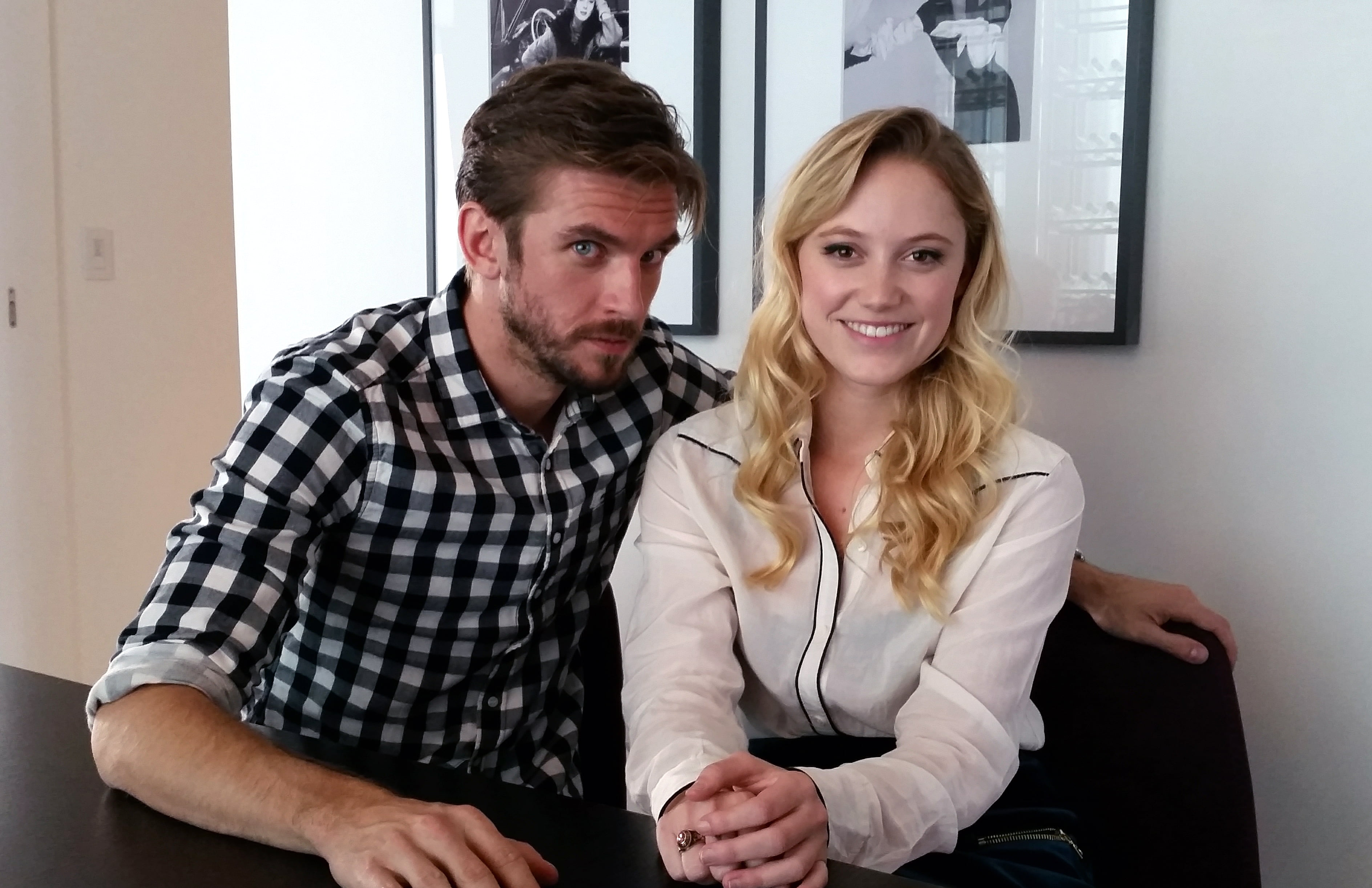 interview dan stevens and maika monroe on the guest