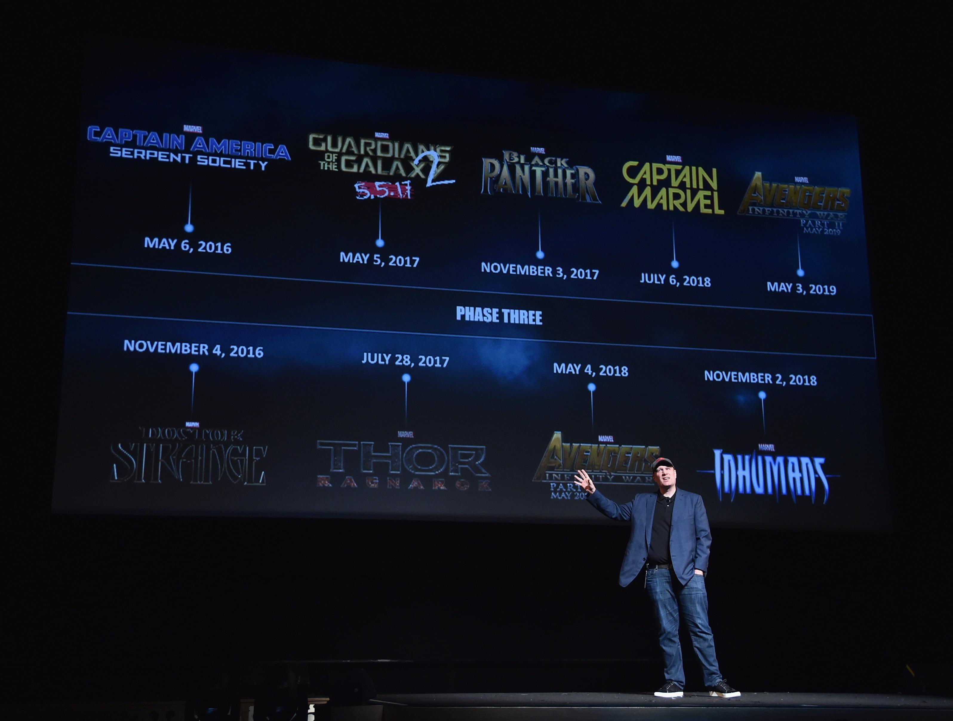 President of Marvel Studios Kevin Feige