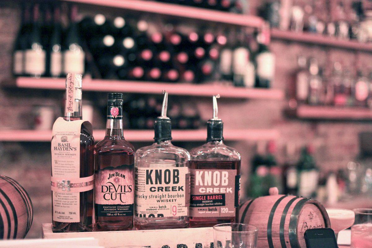 Knob Creek and Jim Beam bourbon