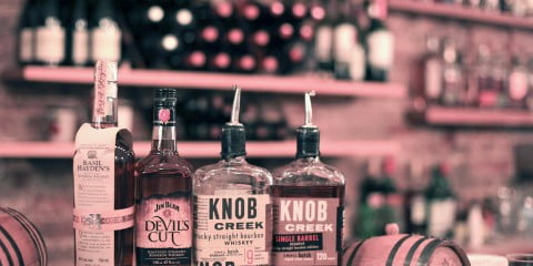 Knob Creek and Jim Beam bourbon