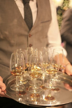 The Macallan M is served