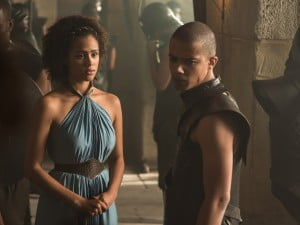 Nathalie Emmanuel and Jacob Anderson