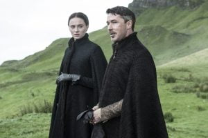Sophie Turner and Aiden Gillen