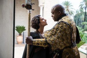 Indira Varma and Deobia Opaeri