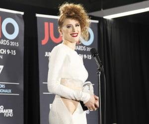 Kiesza in the Juno Awards press room