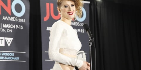 Kiesza in the Juno Awards press room