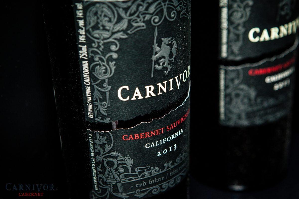 A bottle of Carnivor Cabernet
