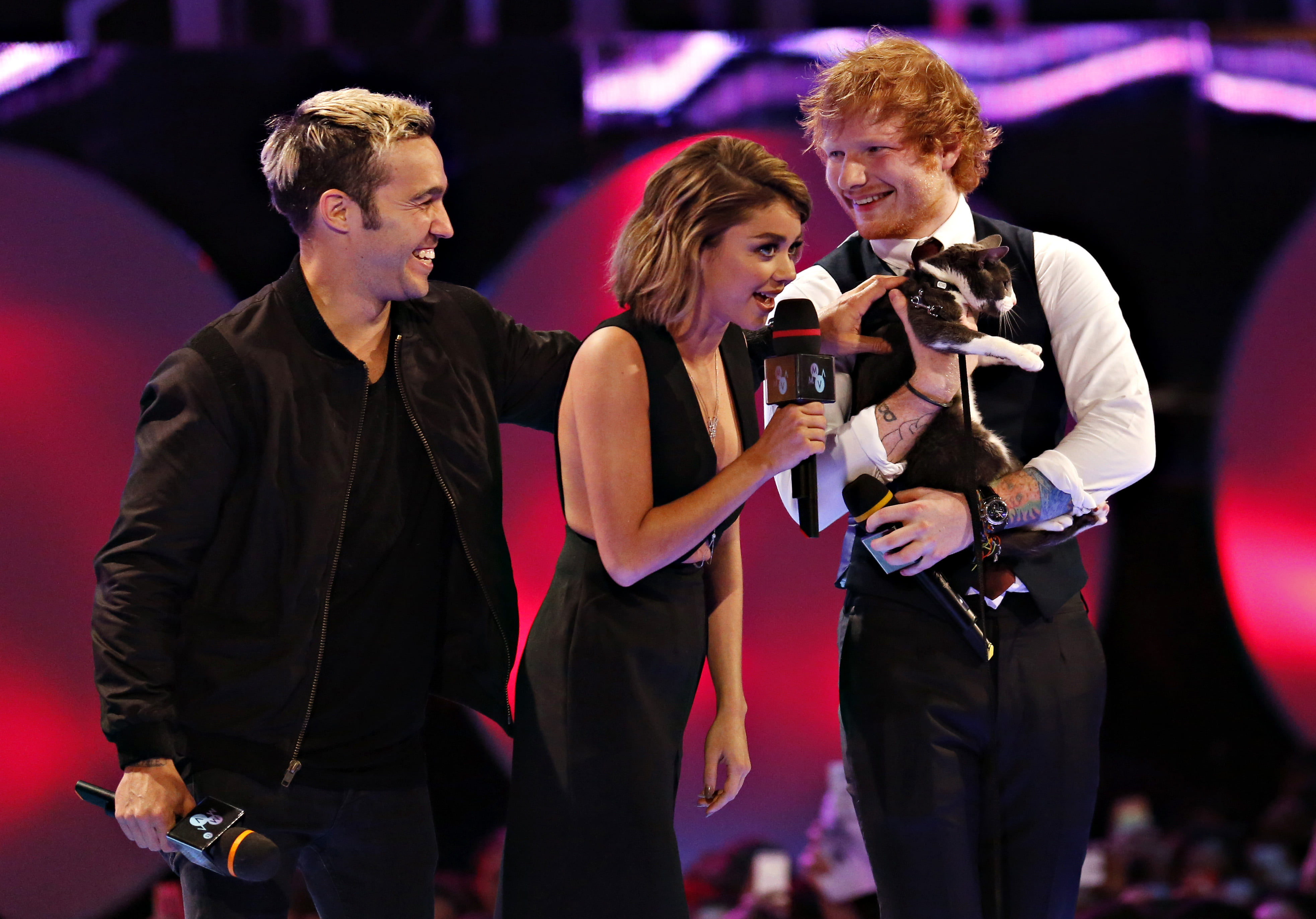 Pete Wentz, Sarah Hyland & Ed Sheeran