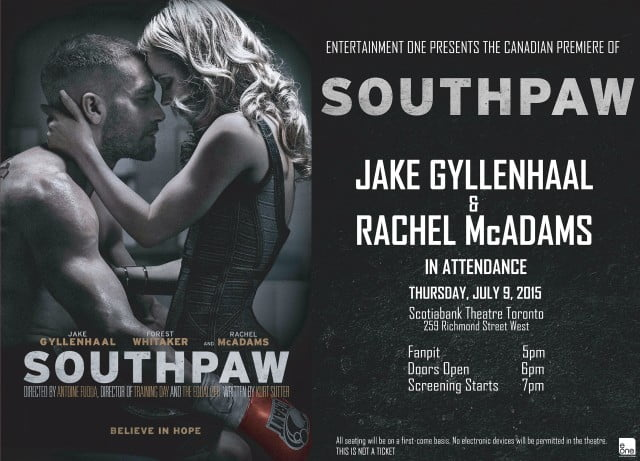 Southpaw Canadian Premiere
