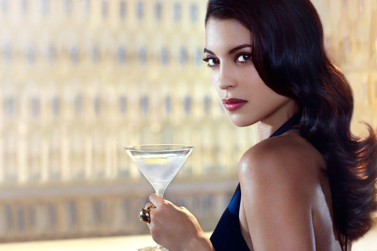 Stephanie Sigman with Belvedere Vodka