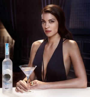 Stephanie Sigman and Belvedere 007 Spectre limited edition bottle