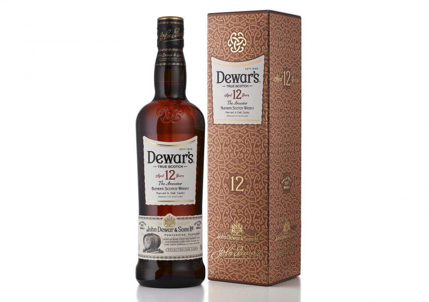 Dewar's 12 Bottle and Box