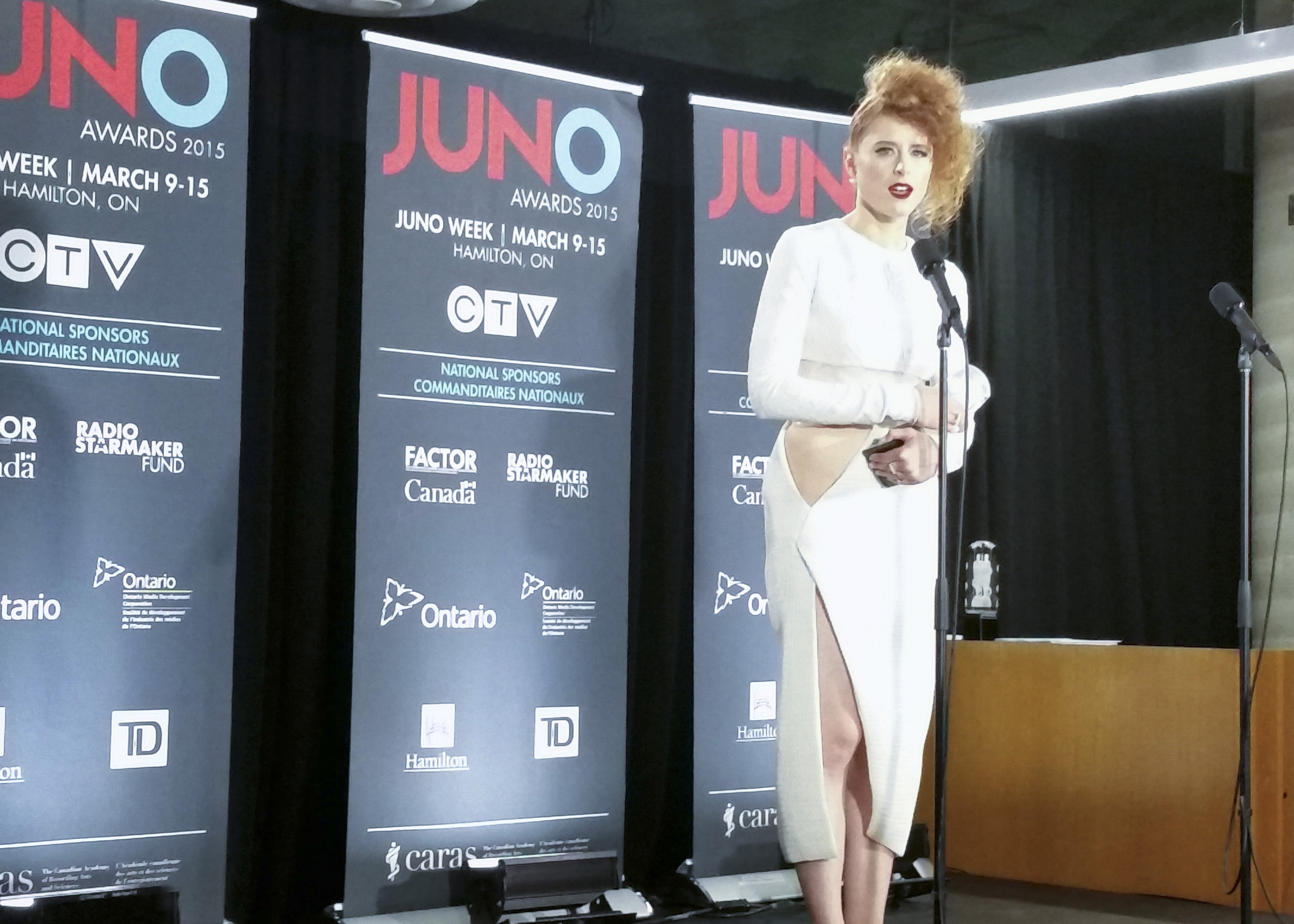 Kiesza at the Juno Awards
