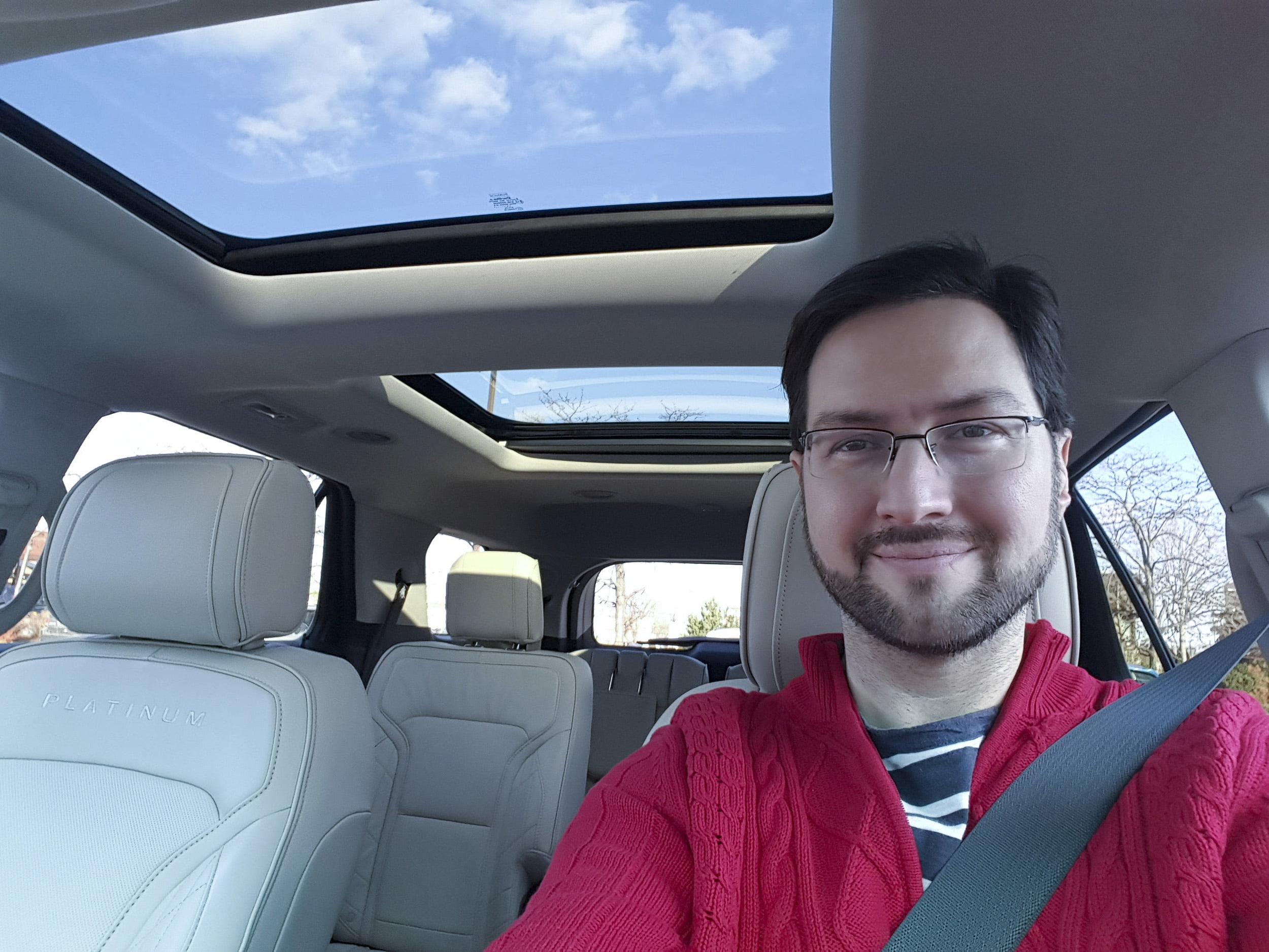 Andrew Powell in the Ford Explorer Platinum