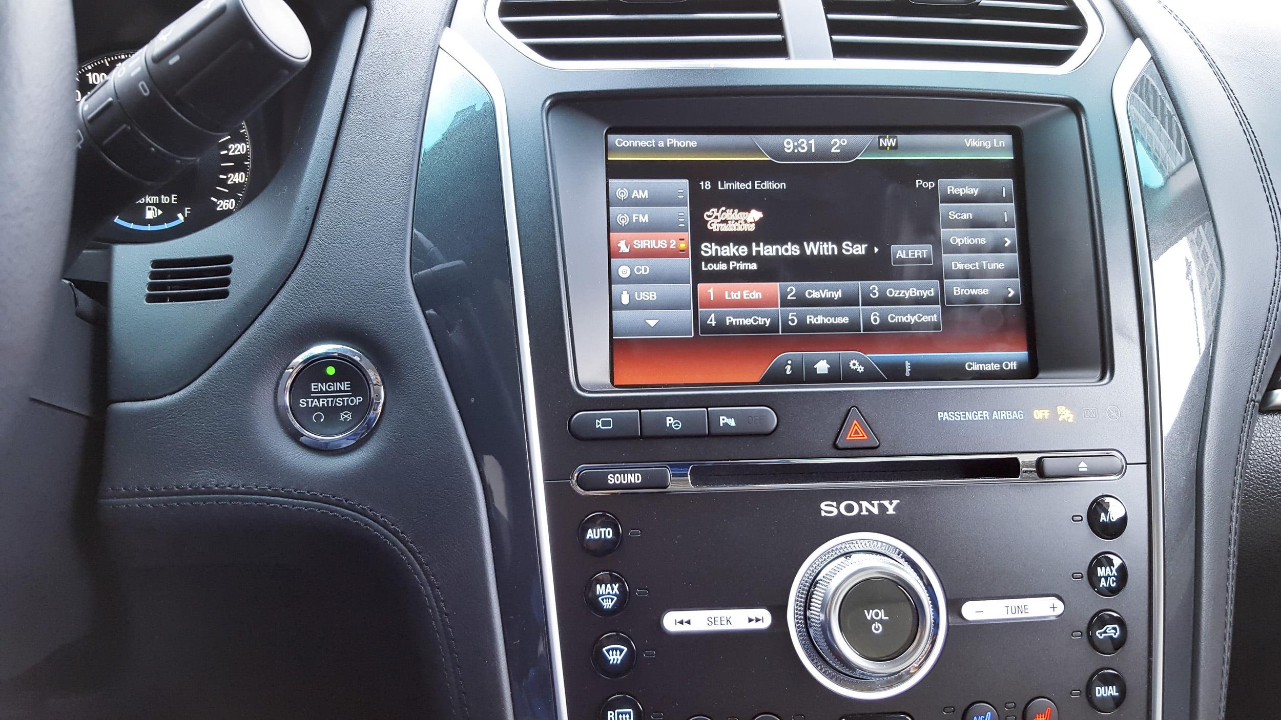 Ford Explorer Platinum with Sony Premium Audio