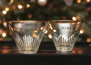 Mine & Yours Stemless Martini Glasses