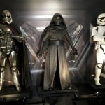 Captain Phasma, Kylo Ren, and a Stormtrooper