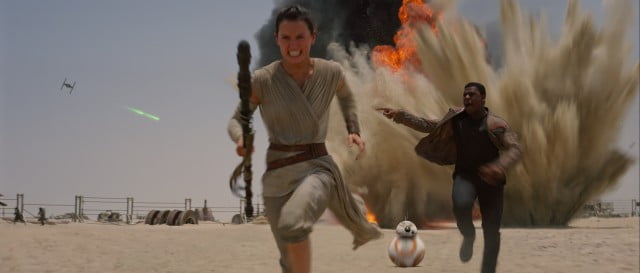 A scene from Star Wars: The Force Awakens